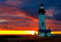 Yaquina Head Light, Sunset, Newport, Oregon