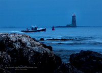 Whaleback Light, at Dawn, Odiorne Point State Park, Rye, New Ham