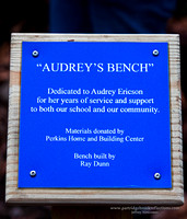 Audrey's Bench Plaque, Friedsam Forest, Chesterfield